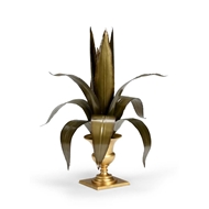Chelsea House Home Lyon Tole Flower - Gold