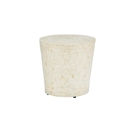 Chelsea House Home Drum Side Table - White 383005