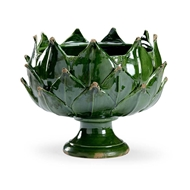 Chelsea House Home Green Leaf Vase