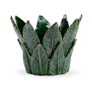 Chelsea House Home Leaf Cachepot - Green