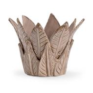 Chelsea House Home Leaf Cachepot - Taupe