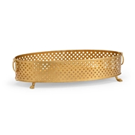 Chelsea House Home Pierced Bowl-Gold
