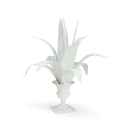 Chelsea House Home Lyon Tole Flower-White