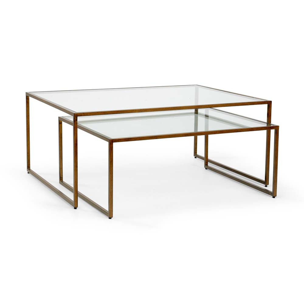 Chelsea house home nesting coffee table bronze