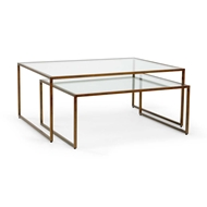Chelsea House Home Nesting Coffee Table - Bronze