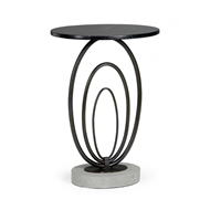 Chelsea House Home Rings Table-Marble