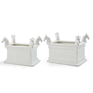 Chelsea House Home Rectangular Horse Planters