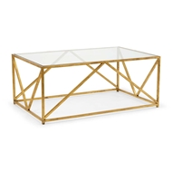 Chelsea House Home Glass Top Harlequin Coffee Table