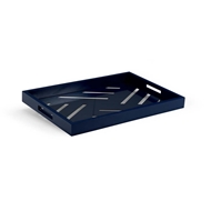 Chelsea House Home Tidewater Tray-Navy 383245