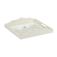 Chelsea House Home Miles River Tray-White 383246