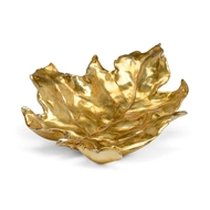 Chelsea House Home Leaf Tray-Gold