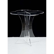 Chelsea House Home Scalloped Acrylic Side Table 383349
