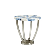 Chelsea House Home Blue Swirl Side Table 383354