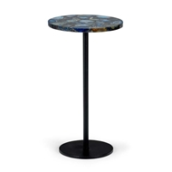 Chelsea House Home Blue Agate Side Table 383360