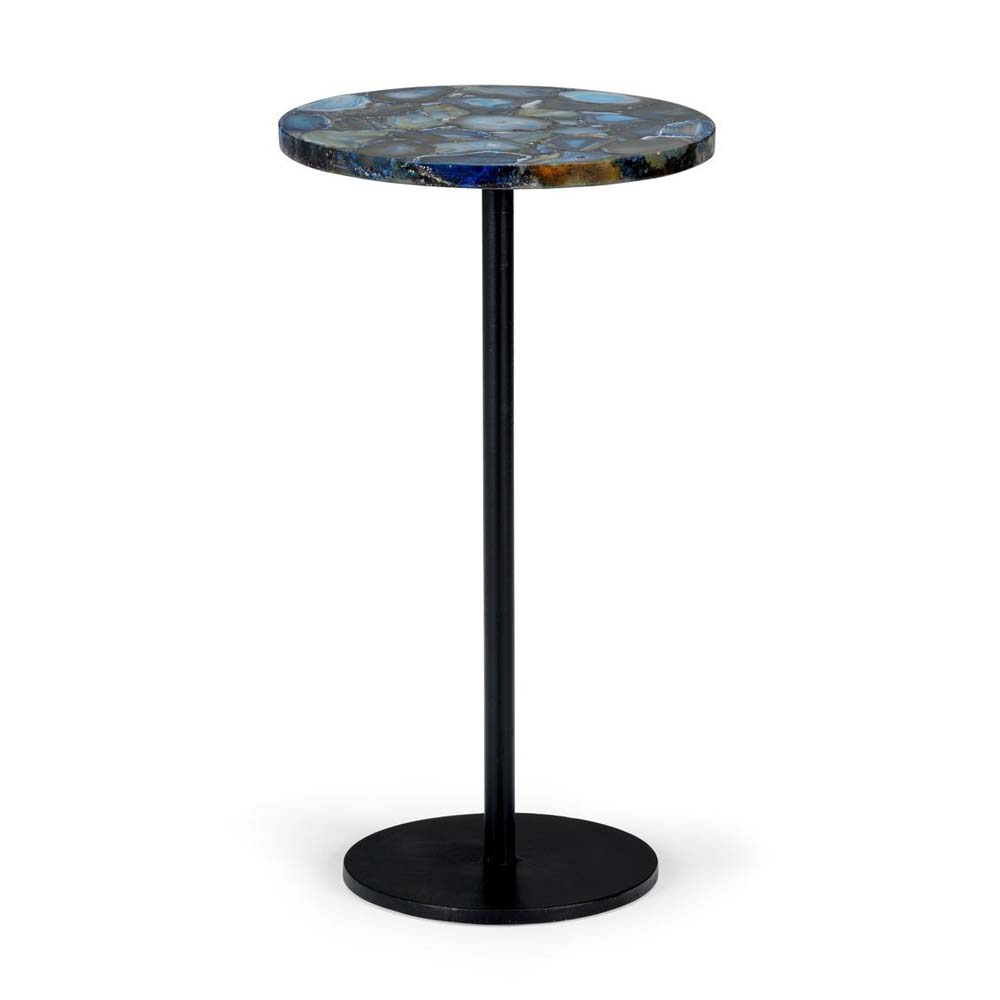 Great Chelsea House Home Blue Agate Side Table