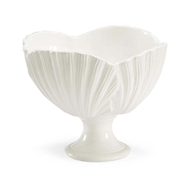 Chelsea House Home Palm Leaf Bowl - White