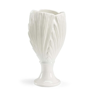 Chelsea House Home Palm Leaf Vase - White