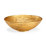 Chelsea House Home Hammered Bowl - Gold