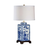 Chelsea House Lighting Lotus Lamp (Lg) Blue