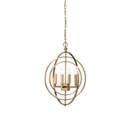 Chelsea House Lighting Round Chandelier-Gold (Sm)