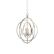 Chelsea House Lighting Round Chandelier-Silver (Sm)
