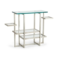 Chelsea House Home Tiered Console - Silver 382744