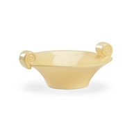 Chelsea House Home Scroll Handled Bowl - Yellow