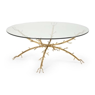 Chelsea House Home Gold Coral Coffee Table