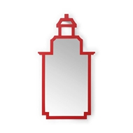 Chelsea House Wall Decor Pagoda Mirror - Red 383679