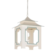 Chelsea House Lighting Tole Pagoda Lantern - Cream 69348