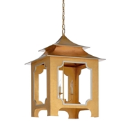 Chelsea House Lighting Tole Pagoda Lantern - Gold 69349