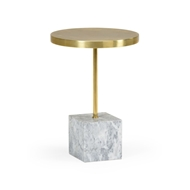 Chelsea House Home Brass And Marble Drinks Table
