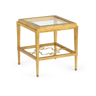Chelsea House Home Agadir Bunching Side Table 383783 Iron/Glass