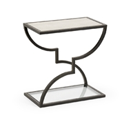 Chelsea House Home Austin Side Table - Bronze 383729 Iron/Mirror/Glass