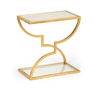 Chelsea House Home Austin Side Table - Gold 383728 Iron/Mirror/Glass