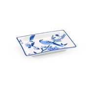 Chelsea House Home Blue Bird Tray - Large 383795 Porcelain