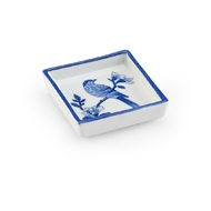 Chelsea House Home Blue Bird Tray - Square - Small 383791 Porcelain
