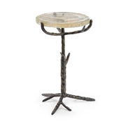Chelsea House Home Bronze Twig Side Table 384267 Glass/Iron