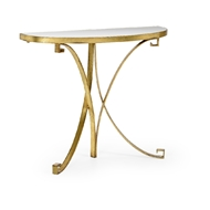 Chelsea House Home Cain Console - Gold 384562 Metal/Mirror