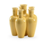 Chelsea House Home Cluster Vase - Yellow 384294 Ceramic