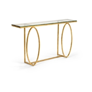 Chelsea House Home Ellipse Console Table 383883 Glass