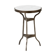 Chelsea House Home Garden Side Table 384376 Iron/Marble