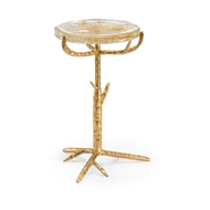 Chelsea House Home Gold Twig Side Table 384268 Glass/Iron