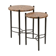 Chelsea House Home Gordy Side Tables - Set of 2 384203 Kapok