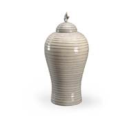 Chelsea House Home Gray Hive Urn - Large 384052 Ceramic