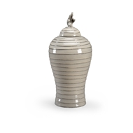 Chelsea House Home Gray Hive Urn - Small 384051 Ceramic