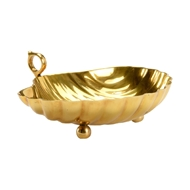 Chelsea House Home Leaf Dish - Large 384071 Brass
