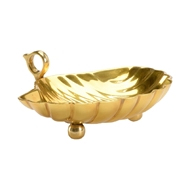 Chelsea House Home Leaf Dish - Small 384070 Brass