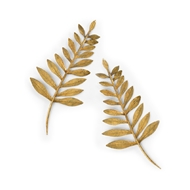 Chelsea House Home Leaf Wall Applique - Pair 384462 Metal