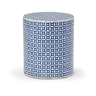 Chelsea House Home Lincoln Side Table - Blue 383016 Wood - Geometric Pattern